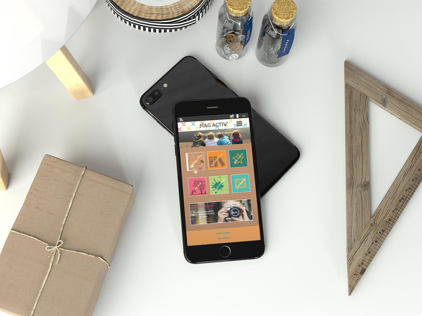 Mag Activ' – Design d'appli