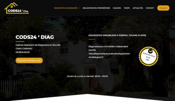 CODS24 Diag – site web